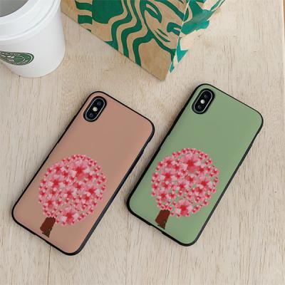 아이폰8 써니 꽃나무 카드케이스