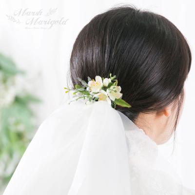 [마쉬매리골드]내추럴 명자꽃 헤어핀 [3컬러]