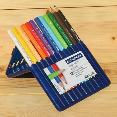 12색 점보 삼각색연필..스테들러 Ergo soft 158 SB12