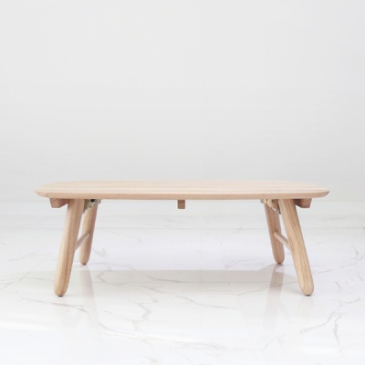 벤트리 원목 라운디시 접이식 폴딩 테이블 95