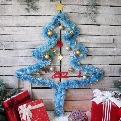 크리스마스 샤틴모루 벽트리 세트 (블루)