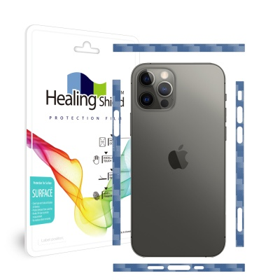 아이폰12 프로 카본네이비 측면테두리 보호필름 1세트