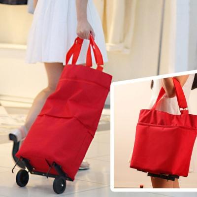 휴대용 접이식 바퀴달린 캐리어 핸드 장바구니 쇼핑카트 시장 가방