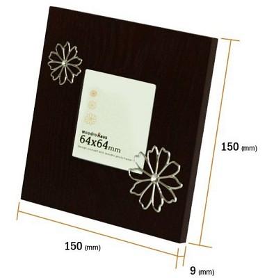 꽃문양이 들어간 천연 애쉬무늬목의-Woodro House ASH Flower 평액자-소 B541-1