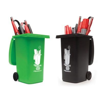 [원더스토어] 럭키스 쓰레기통 연필꽂이 Wheelie bin