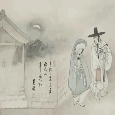 [DIY명화]Q1346 신윤복풍속도 월하정인 size 40*50cm