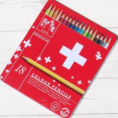 까렌다쉬 수채색연필-스위스컬러 18색 메탈박스