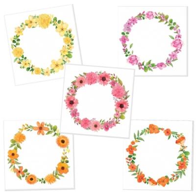 캘리그림엽서 모노꽃리스 5종(10장)