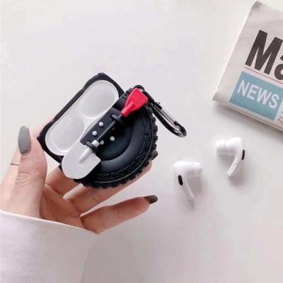 에어팟케이스 1세대 타이어 실리콘 철가루방지스티커