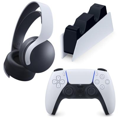 PS5 PULSE 3D 무선 헤드셋 + 듀얼센스 + 충전거치대 (