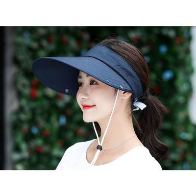 쉴드업 완전무장 썬캡(네이비)/ 여성 여름 돌돌이썬캡