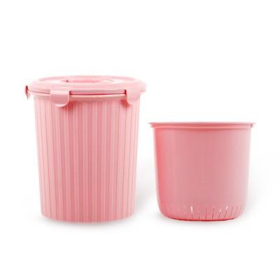 [엔플라스틱]핑크음식물쓰레기통5L
