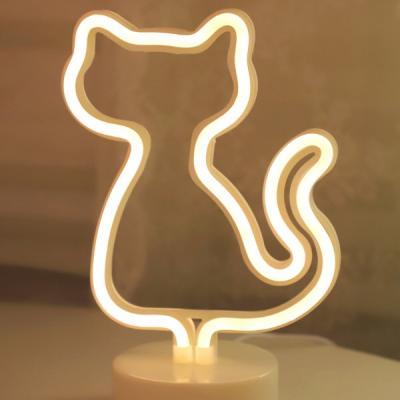 LED 네온 전구 USB 조명등 (고양이)
