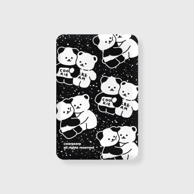 Cookie cream pattern-black(무선충전보조배터리)