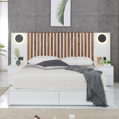 M5142 버티컬 원목 Q 침대세트