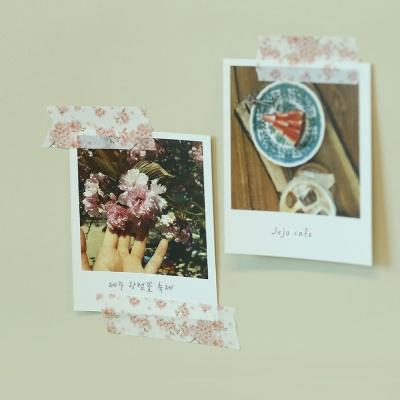 제주 핑크 벚꽃 마스킹테이프
