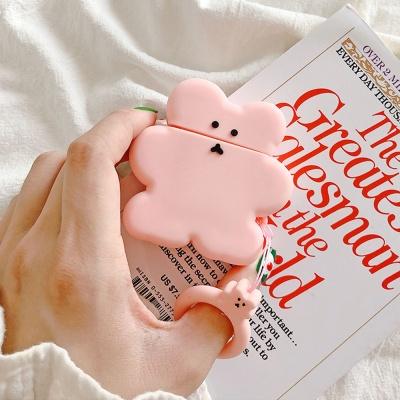 에어팟프로케이스 3세대 곰 쿠키 실리콘 168 핑크_PRO
