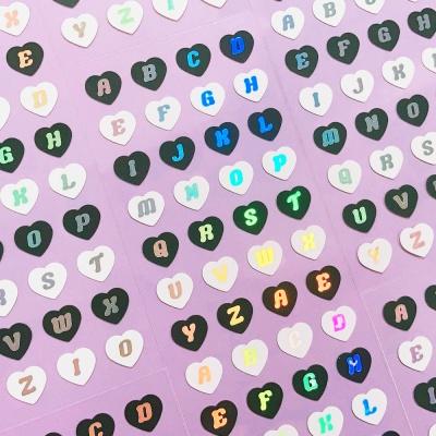 반짝반짝 Heart Alphabet mono 칼선 스티커