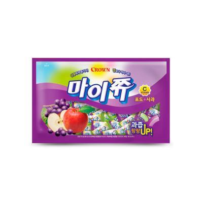 크라운 마이쮸 포도+사과 사탕 대용량 720g