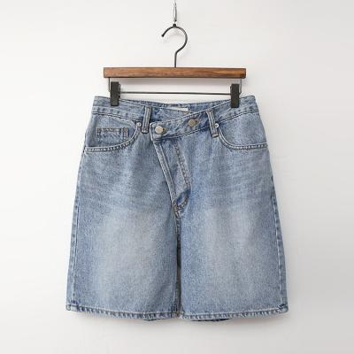 Unbal Wrap Denim Shorts