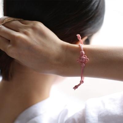 [취프로젝트] 꽃가락지 팔찌 완제품-회색