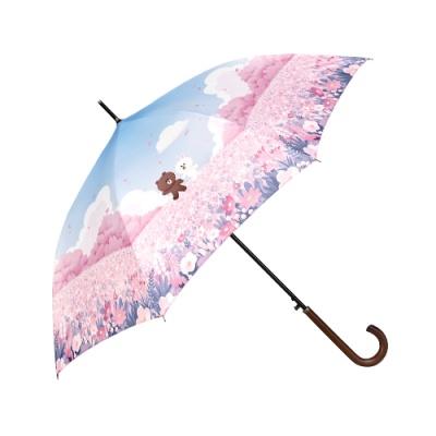 [LINE FRIENDS] DTP 자동 장우산 / FLOWER