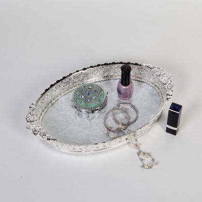 큐티메탈 루비 화장품 정리 수납 쟁반 스몰-2색상