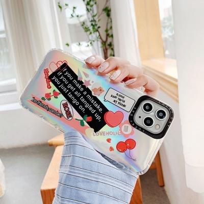 아이폰se2 xr xs max 8 7+ 곰 스티커 홀로그램 케이스