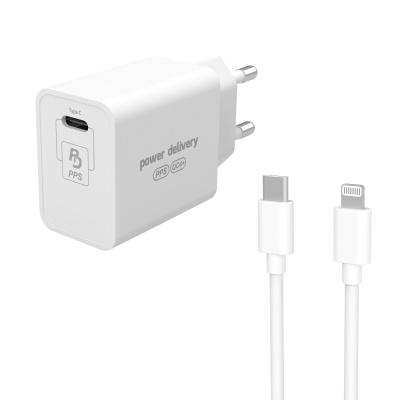 USB PD PPS 초고속충전기27W+C타입 to 8핀 케이블세트