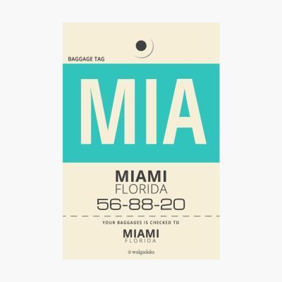 에어라인택 포스트카드 엽서 - Miami