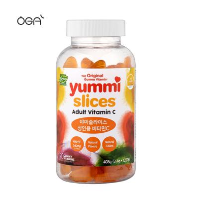 야미베어스 슬라이스 비타민c 성인용 120꾸미 1통