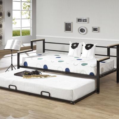 심플라인 철제 슬라이딩 소파 슈퍼싱글매트리스 침대