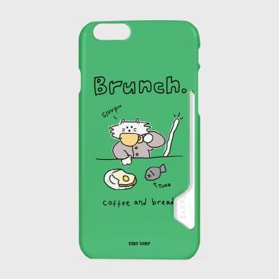 Brunch cat-green(카드수납케이스)