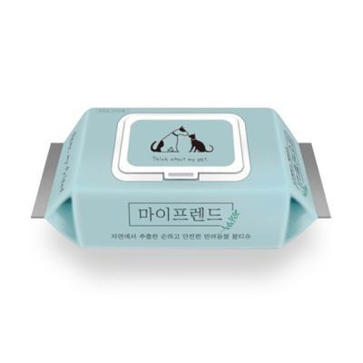 마이프렌드 강아지 손발 저자극 위생 항균물티슈 60매