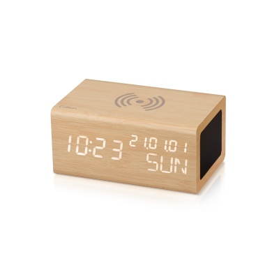 브리츠 무선충전 블루투스 시계 알람 스피커 BZ-E3BT