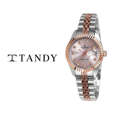 탠디 메탈 손목시계 T-3909 여자 로즈골드콤비