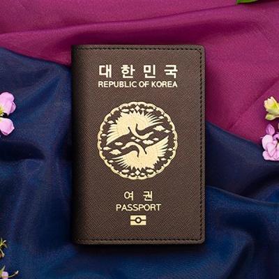 쌍학 여권케이스