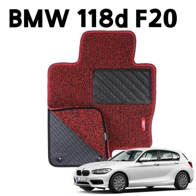 BMW 118d F20 이중 코일 차량용 차 발 깔판 매트 Red