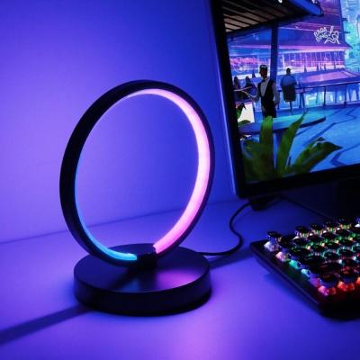 RGB 서클 무드등 PC방 인테리어 스탠드 조명 게이밍조명