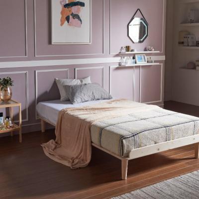 [채우리] 로터스 소나무 원목 침대 프레임/깔판 SS