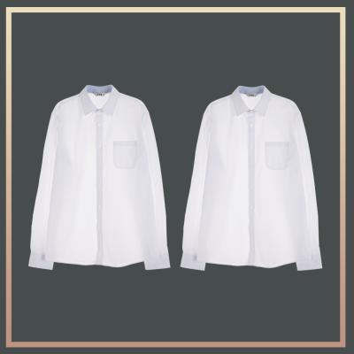 [빅사이즈]남성 밝은 블루 프리미엄 셔츠 1+1 패키지
