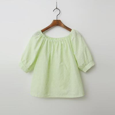 Lucy Puff Crop Blouse - 오프숄더