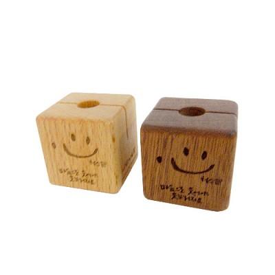 [퍼니피쉬] 나무자석 1개(웃는마음) - 너도밤나무