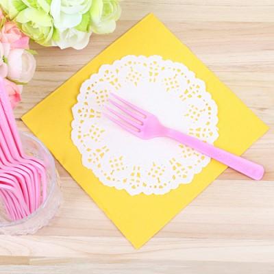 파티용 칼라 포크-핑크(10개입)