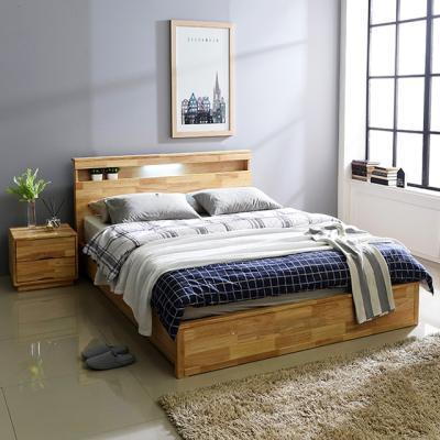 사야 원목 침대 LED 퀸침대 통판형