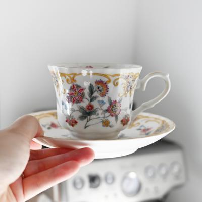 클래식 노바루 커피잔 잔받침 세트