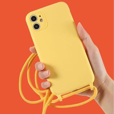 P102 아이폰7 파스텔 마카롱 스트랩 실리콘 케이스