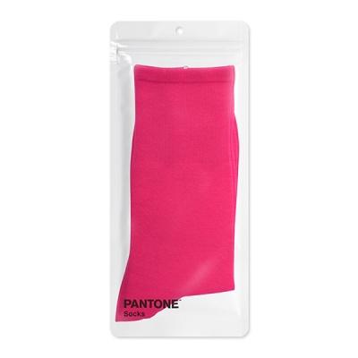 팬톤삭스 마젠타핑크 Magenta Pink 컬러 장목 양말