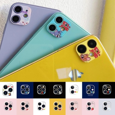 아이폰11pro max 카메라 렌즈 보호캡 캐릭터 강화필름
