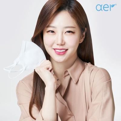 [아에르] 스포츠핏 KF94 마스크 화이트 10매